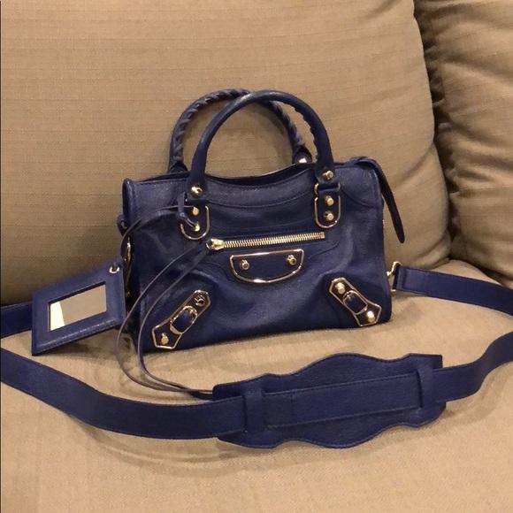 7bd70d24f86e2 Balenciaga Handbags - Balenciaga Classic Metallic Edge mini City Bag